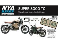 SUPER SOCO TC - - - BRAND NEW - - - ELECTRIC 50cc EQUIVALENT