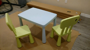 Ikea kids table and chairs- Mammut