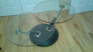 Swivel Glass Top Coffee Table
