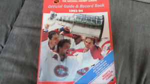 NHL guide/record book 1993-94(P.Roy cover)