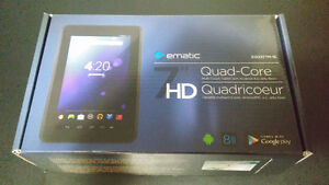 "Tablette Ematic 7"", 8gb, quadricoeur, Système Jelly Bean"