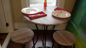 Bar Style Table and Two Stools