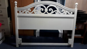 White head board for double bed.