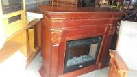 Large Cherry Coleman Electric Fireplace Heater
