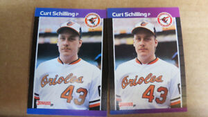 Curt Schilling MLB rookie cards(2)