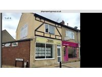 Commercial property with 4 bed flat above - TO LET OR CAN BE PURCHASED FREEHOLD- £235,995