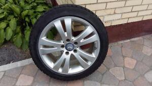 Mags Mercedes et pneus d'hiver