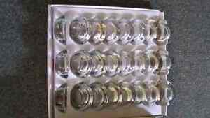 57 glass candle holders