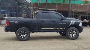 Lifted 2011 Dodge Power Ram 1500 Sport Pickup Truck