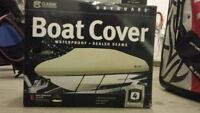Boat Cover & 2 Boat Cover Support Poles