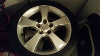 mazda 3 gt rim mag 17 x 6.5 used with tires non nego