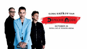 Two Depeche Mode Tickets Section 109 Row 5