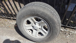 4 summer tires with rims. Goodyear 225 75r16