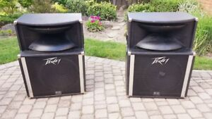 2 PeaVey SP-2 BW Equipped LOUD Speakers! The Pair Are Waiting...