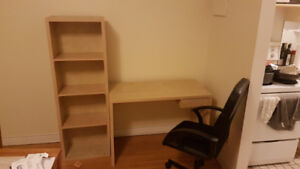 Ikea Home Office - Sweet Deal! Billy Bookcase, Desk, and Chair