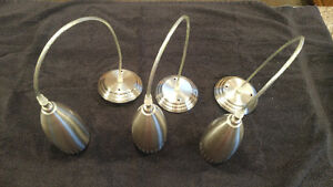 3 Hanging Pendant Light Fixtures with Brushed Nickel Finish Strathcona County Edmonton Area image 4