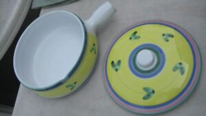 Ceramic Serving/Baking Dishes - hand painted outside-from Italy