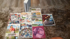 Wii console + games, 3 manettes