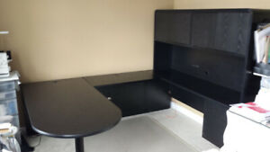 Black Credenza Office Furniture Suite