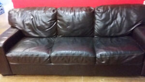 Brown Leather Couch in Great Condition!