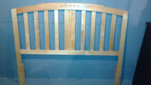 Solid wood Double headboard and rails