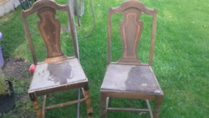Wood back chairs
