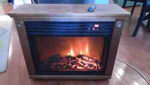 Fireplace infrared heater