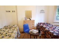 Nice twin room -share or private- to rent in Walthamstow, all bills included, free wifi, ID: 40