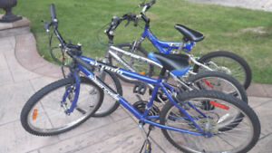 3 Assorted Used Bikes For Sale