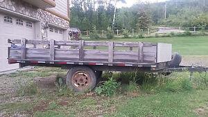 Flat deck trailer 8x14