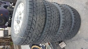 4 Tires and Rims for newer Chevy truck