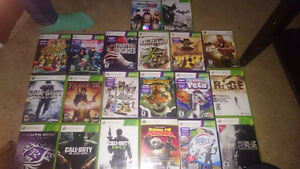 Xbox slim,  3 controllers,  20 games, kinect and dj hero London Ontario image 4