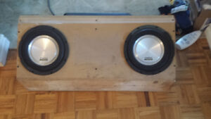 clarion subs and amp boxed