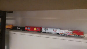 Ho train cars,engines, and track for sale or trade