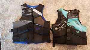 Hyperlite PFD'S. Excellent condition.  Great for aquatic sports.