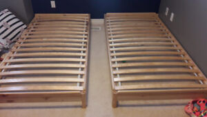 Ikea Bed frame single - UTAKER 2 pack - used less than 1 year