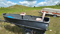 12ft Aluminum Fishing Boat and Trailer! !!