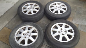 4/  HONDA CIVIC RIMS & 4/ CHEVROLET ALUMINUM RIMS