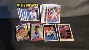 Robin Yount MLB cards(18)