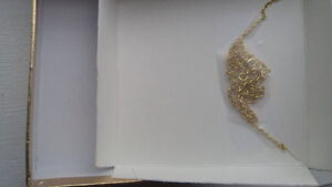Brand new sterling silver gold plated necklace with pendant Kitchener / Waterloo Kitchener Area image 2