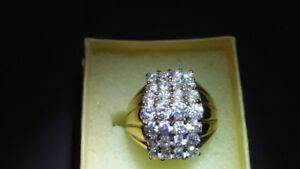 Gold and Diamond Ring size 8