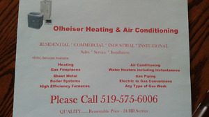 Heating & Air Conditioning Services Available