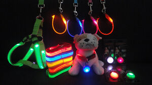 SALE! LED Pet Accessories:Leashes, collars, pendants, harnesses!