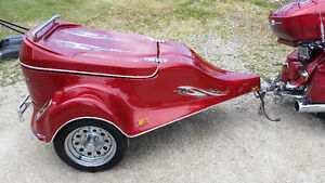 2002 factory built fiberglass motorcycle trailer Windsor Region Ontario image 1
