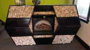 Electric fire place tv stand/wall unit