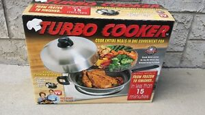 Turbo Cooker 4 in 1 Cooking System Steam, Roast, Bake, Fry