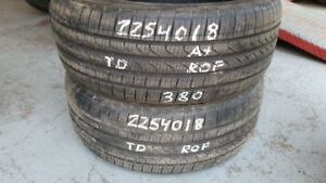 Pair of 2 Pirelli Cinturato P7 (run-flat) 225/40R18 tires (85% t