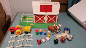 Vintage Fisher-Price Little People Village and Farm Sets