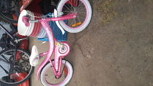 Pink supercycle cream soda kids bike for sale.