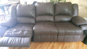 Canadain made real leather sofa lazy boy recliner
